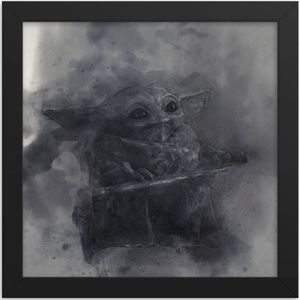 Baby Yoda Sketch Framed